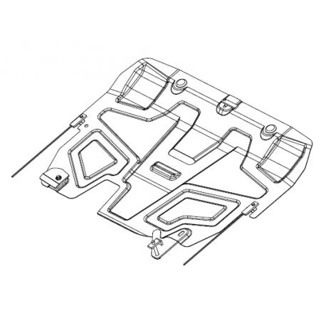 Ford Mondeo V Motor und Getriebeschutz 1.6 - Stahl