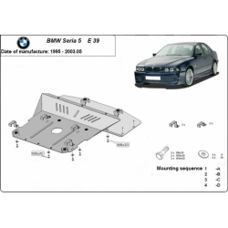 BMW 5 E39 Unterfahrschutz - Stahl