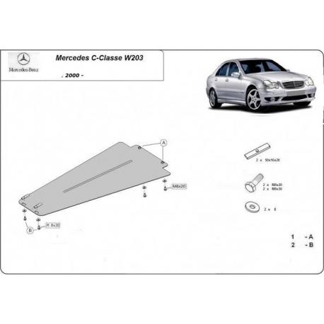 Mercedes C-Classe Getriebeschutz W203, 2.0 - Stahl