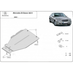 Mercedes E-Classe Getriebeschutz W211, 3.2 - Stahl