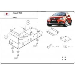 Suzuki SX4-2WD, 4WD (Schutz für Differential) 1.5 ,1.6 (4x4), 1.9 TD - Stahl