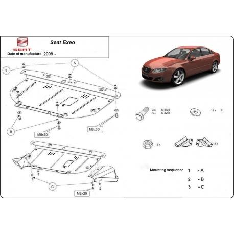 Seat Exeo Unterfahrschutz 1.9, 2.0TDi - Stahl