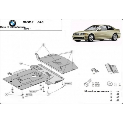BMW 3 E46 Unterfahrschutz - Stahl