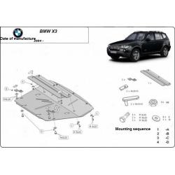 BMW X3 Unterfahrschutz - Stahl