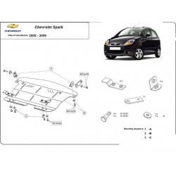 Chevrolet Spark Unterfahrschutz - Stahl