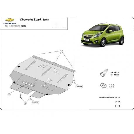 Chevrolet Spark New Unterfahrschutz - Stahl
