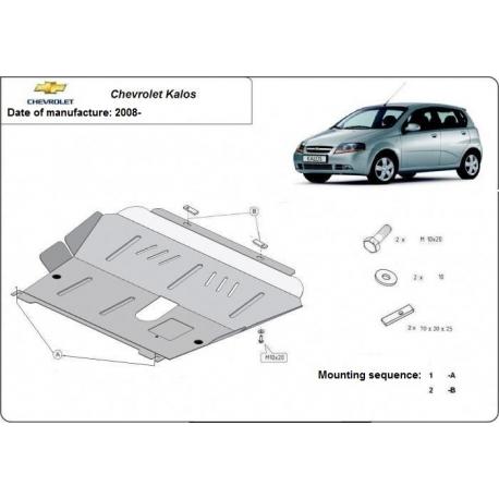Chevrolet Kalos Unterfahrschutz 1.0, 1.2, 1.4 - Stahl