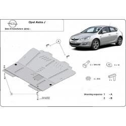 Opel Astra J Unterfahrschutz 1.3D, 1.4, 1.6, 1.8, 1.9D, 2.0 - Stahl