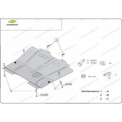 Opel Insingnia Unterfahrschutz 1.3D, 1.4, 1.6, 1.8, 1.9D, 2.0 - Stahl