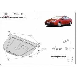 Citroen C5 Unterfahrschutz 1.6, 1.8, 2.0HDI, 3.0 - Stahl
