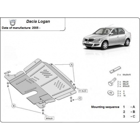 Dacia Logan Unterfahrschutz - Stahl