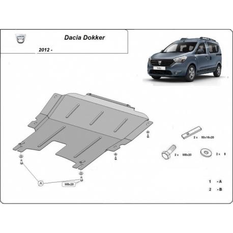 Dacia Dokker Unterfahrschutz 1.2, 1.4, 1.5 TDci - Stahl