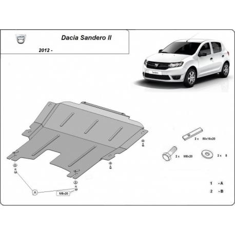 Dacia Lodgy Unterfahrschutz 1.2, 1.4, 1.5 TDci - Stahl
