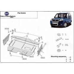 Fiat Doblo Unterfahrschutz 1.3, 1.6, 1.9TDi - Stahl