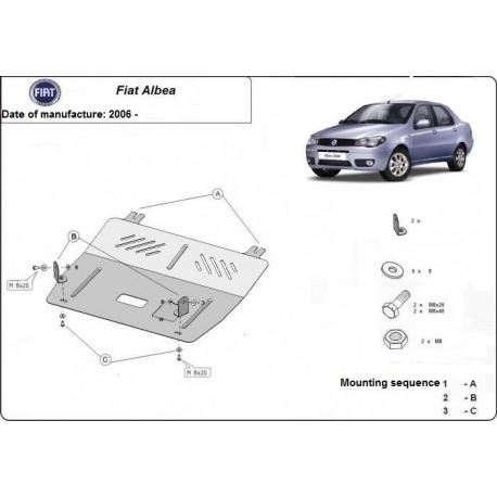 Fiat Albea Unterfahrschutz 1.4, 1.6TDi - Stahl