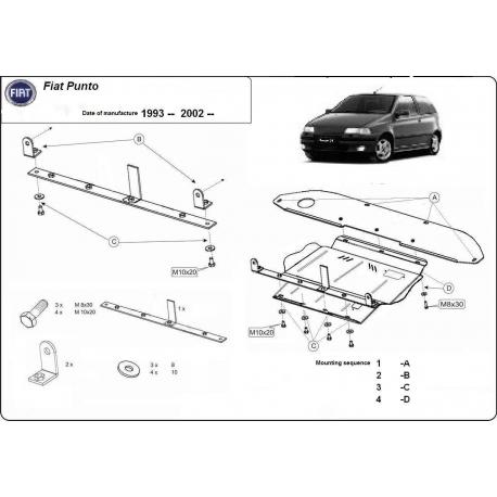 Fiat Punto Unterfahrschutz 1,3 - Stahl