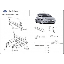 Ford Fiesta Unterfahrschutz - Stahl