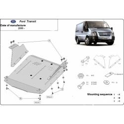 Ford Transit Unterfahrschutz 1.7TDci, 2.4TD - Stahl