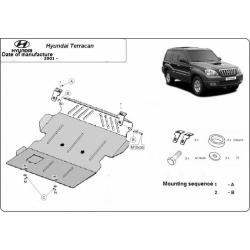 Hyundai Terracan Unterfahrschutz 2.5TD, 2.9TD, (4WD) 2.9CRDi - Stahl