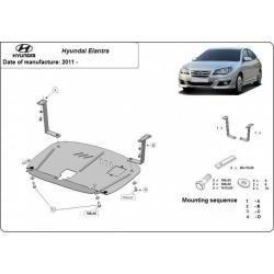 Hyundai Elantra Unterfahrschutz 1.4, 1.6, 2.0 - Stahl