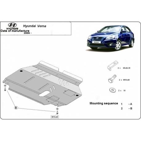 Hyundai Verna Unterfahrschutz 1.3, 1.5 - Stahl
