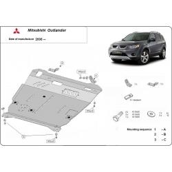 Mitsubishi Outlander Unterfahrschutz 2.0, 2.0(4WD), 2.0T, 2.4(4WD) - Stahl