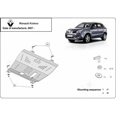 Renault Koleos Unterfahrschutz 2.4 CRDi - Stahl