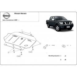 Nissan Navara Unterfahrschutz 2.5dCi (4WD), 4.0(4WD) - Stahl