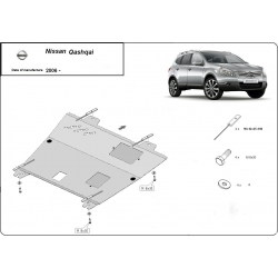 Nissan Qashqai Unterfahrschutz 1.5dCi, 1.6, 2.0dCi, 2.0(4WD) - Stahl