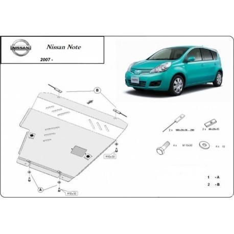 Nissan Note Unterfahrschutz 1.6, 1.8 - Stahl