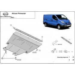 Nissan Primastar Unterfahrschutz 1.9D, 2.0, 2.5D - Stahl