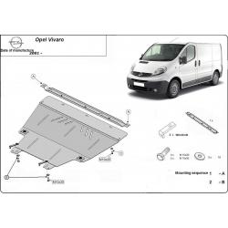 Opel Vivaro Unterfahrschutz 1.9D, 2.0, 2.5D - Stahl