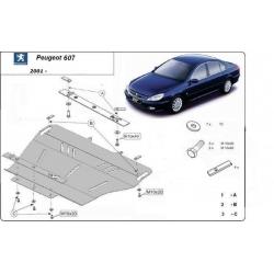 Peugeot 607 Unterfahrschutz 2.0HDi, 2.2HDi, 2.7HDi, 3.0TD - Stahl
