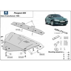 Peugeot 406 Unterfahrschutz 1.6, 1.8, 1.9D, 2.0HDi, 2.1TD - Stahl