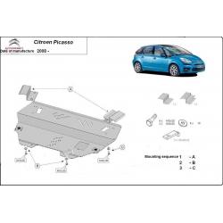 Citroen Picasso Unterfahrschutz 1.4, 1.6, 1.6HDI, 1.8, 2.0, 2.0HDI - Stahl