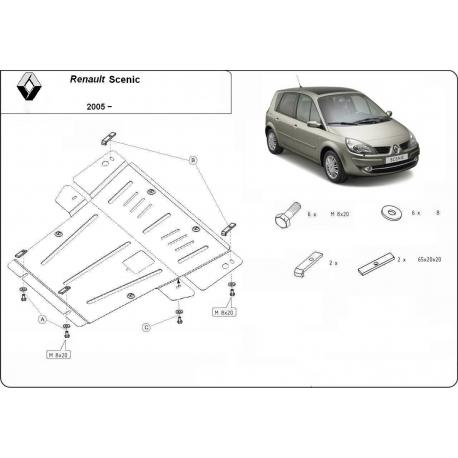 Renault Scenic Unterfahrschutz D - Stahl