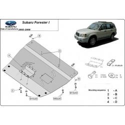 Subaru Forester Unterfahrschutz 2.0, 2.5 - Stahl
