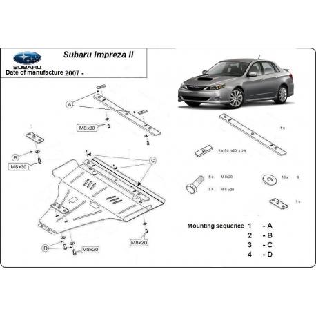 Subaru Impreza Unterfahrschutz B - Stahl