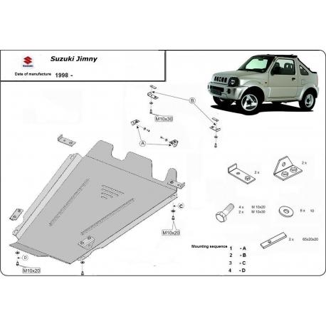 Suzuki Jimny Unterfahrschutz 1.3B(4WD), 1.5B - Stahl