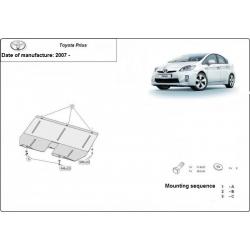Toyota Prius Unterfahrschutz 1.4, 1.6, 1.8, D, Hybrid - Stahl