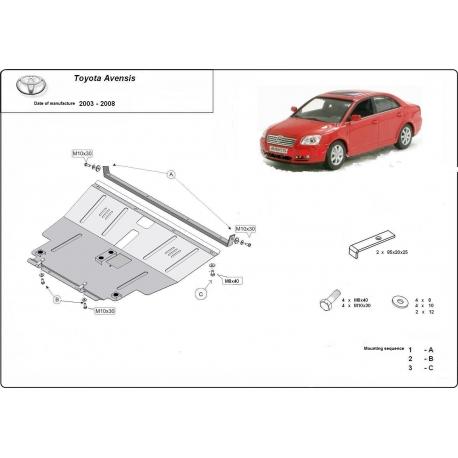 Toyota Avensis Unterfahrschutz 1.4, 1.6, 1.8, 2.0D - Stahl