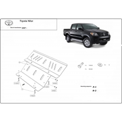 Toyota Hilux II Unterfahrschutz 3.0D - Stahl