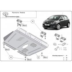Toyota Yaris I Unterfahrschutz - Stahl