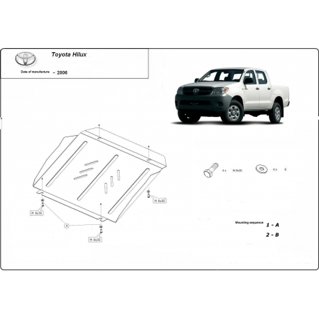 Toyota Hilux I Unterfahrschutz - Stahl