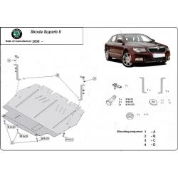 Skoda SuperB II Unterfahrschutz 1.8, 2.0TFSI quattro, 2.0TDi - Stahl