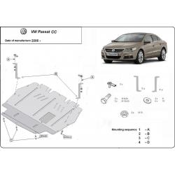 VW Passat CC Unterfahrschutz 2.0TDi - Stahl