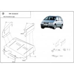 VW Sharan Unterfahrschutz 1.9TDI, 2.0, 2.5, 2.8 - Stahl