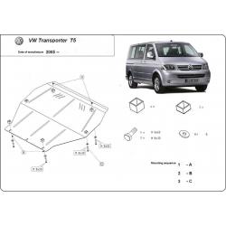 VW Caravelle T5 Unterfahrschutz 1.9TDi, 2.0i, 2.5TDi, 3.2 - Stahl
