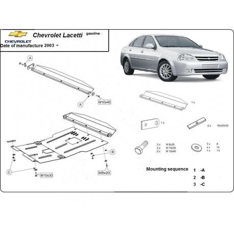 Chevrolet Lacetti Unterfahrschutz - Stahl