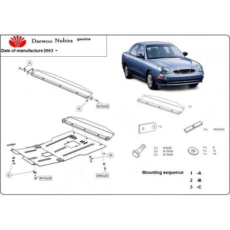 Daewoo Nubira II Unterfahrschutz 1.6, 2.0 - Stahl